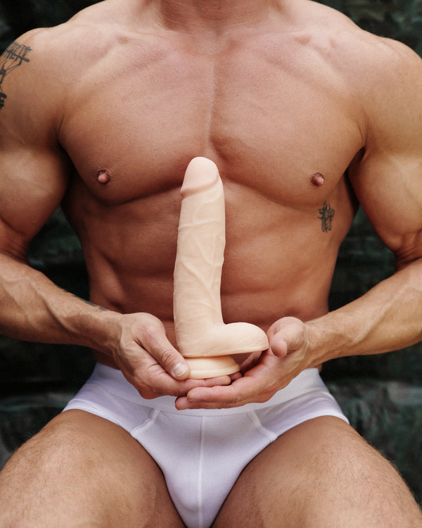 9 Inch Ultra Real Dual Layer Dildo by USA Cocks - Light Skin Tone