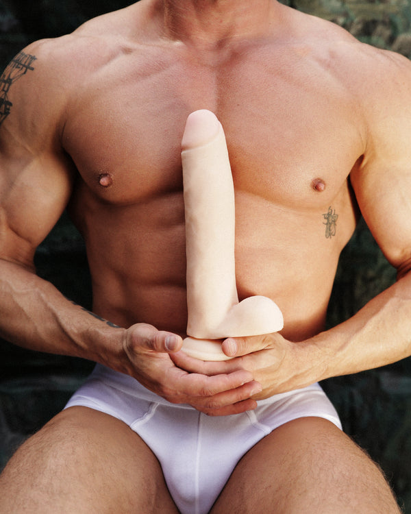 11 Inch Ultra Real Dual Layer Dildo by USA Cocks - Light Skin Tone