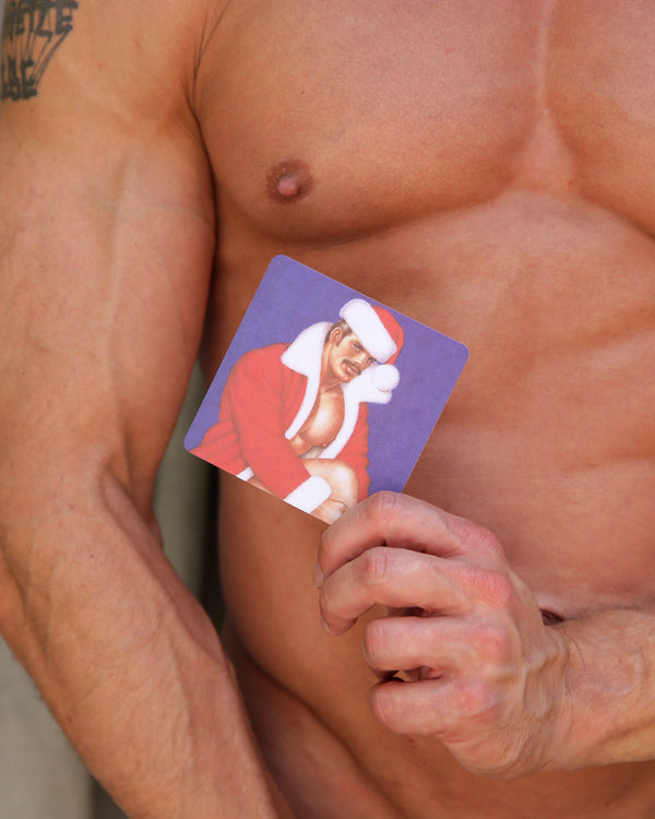 Tom of Finland Santa Daddy Wood Coaster
