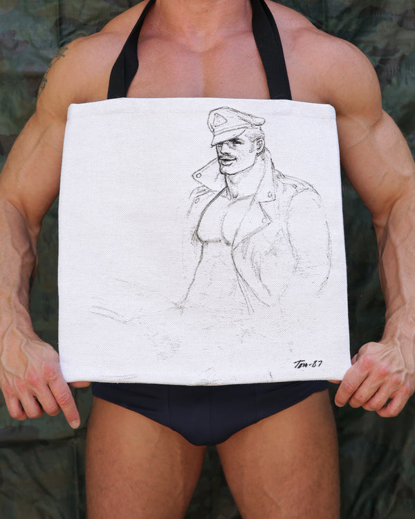Tom of Finland Leathman Tapestry Tote Bag