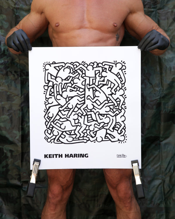Keith Haring PARTY OF LIFE INVITATION, 1986 Print
