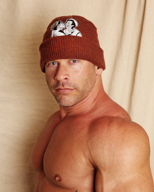 Rust Kissing Beanie by LINDER