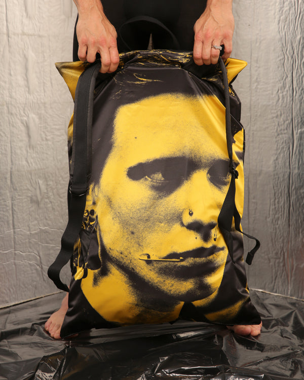Yellow Poster Pocket Backpack by Raf Simons x Eastpak