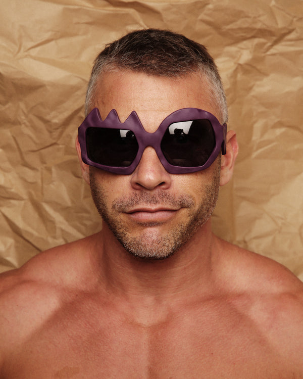 Purple Lightning Glasses by FAKBYFAK x Walter Van Beirendonck