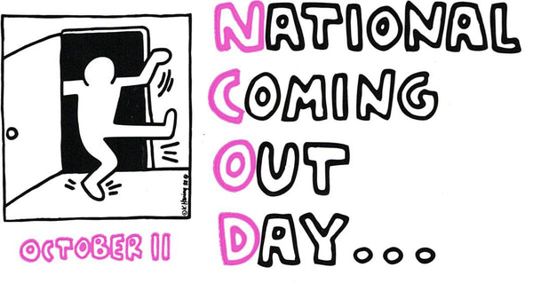Keith Haring National Coming Out Day Bumper Sticker