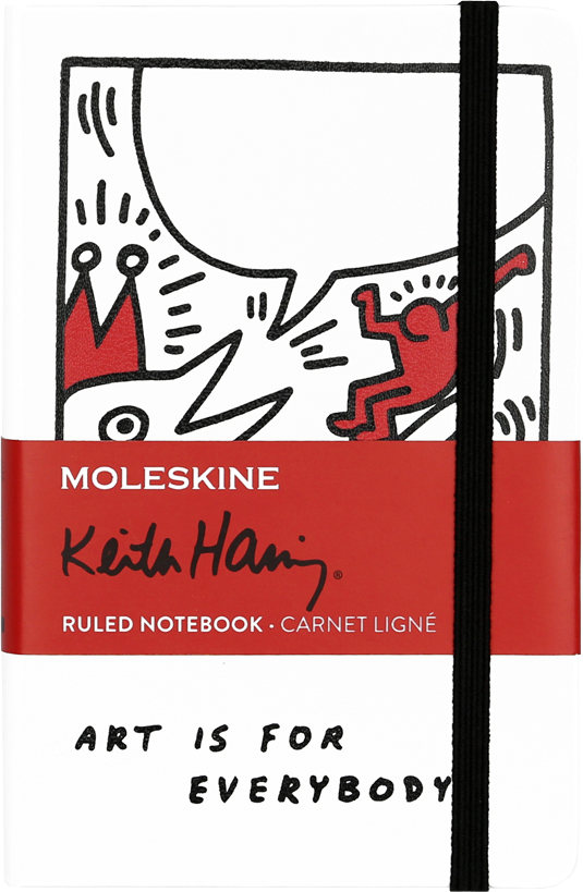 Keith Haring Pocket Ruled White Notebook by Moleskine
