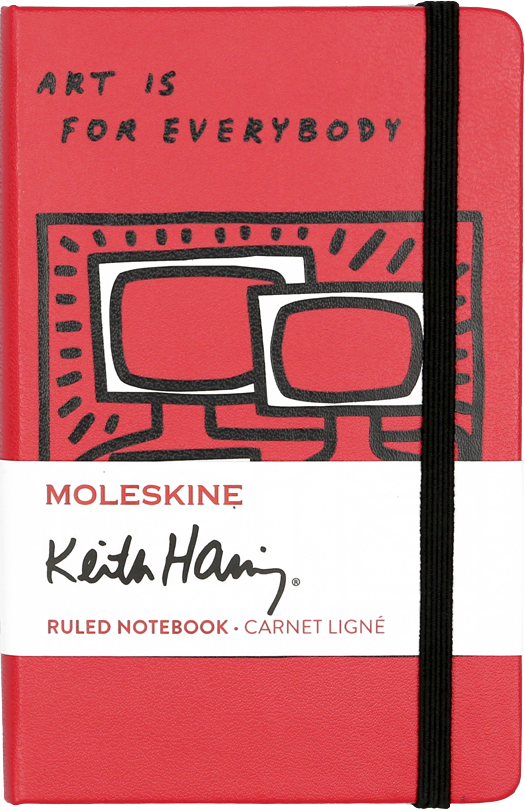 Keith haring Pocket Plain Scarlet Red Notebook by Moleskine