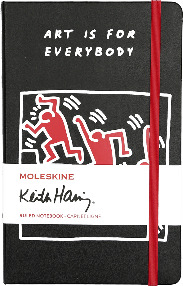 Keith haring Large Ruled Black Notebook by Moleskine