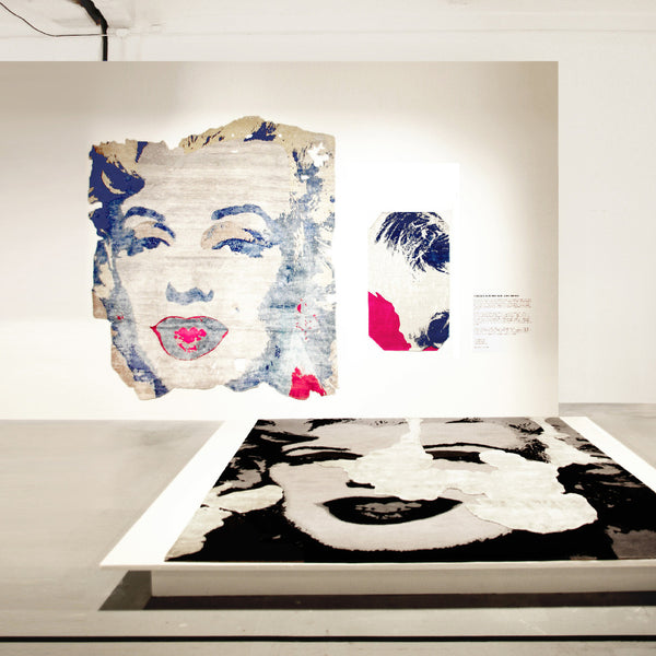 Andy Warhol, Marilyn, 1967 (Tarfala Permafrost Night Edit): Henzel Studio Heritage Art Rug