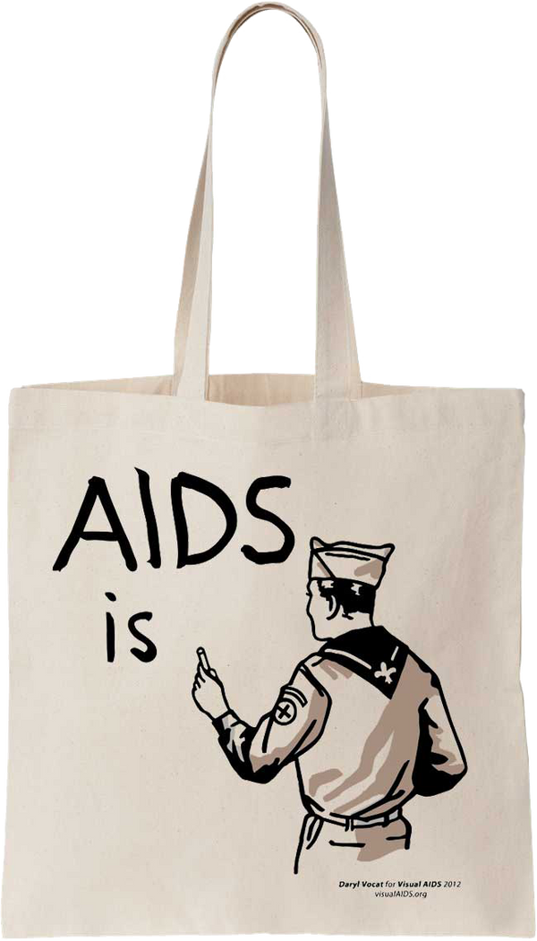AIDS is... Tote Bag by Daryl Vocat for Visual AIDS