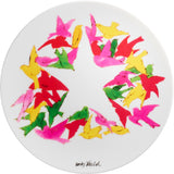 ANDY WARHOL PORCELAIN PLATE -  BIRDS - CHRISTMAS COLLECTION