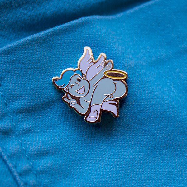 GAYPIN' ENAMEL PIN: ANGEL BOOTY