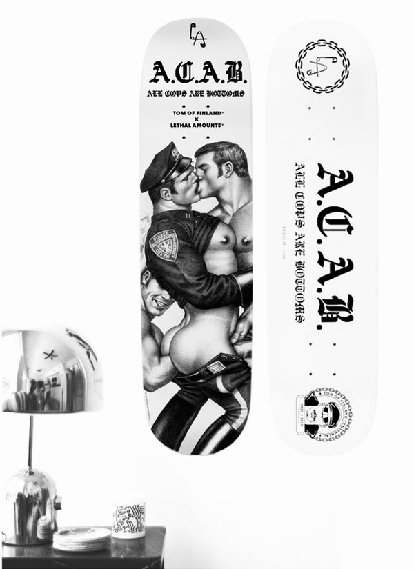 TOM OF FINLAND X LETHAL AMOUNTS A.C.A.B. SKATEBOARD