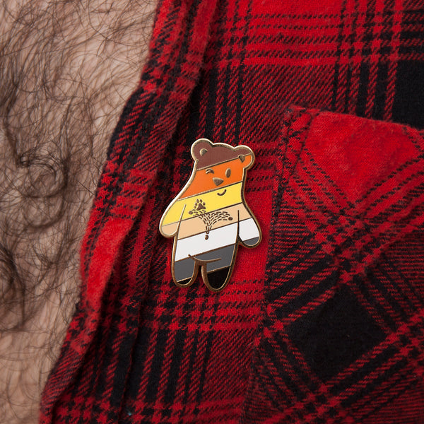 GAYPIN' ENAMEL PIN: BEAR