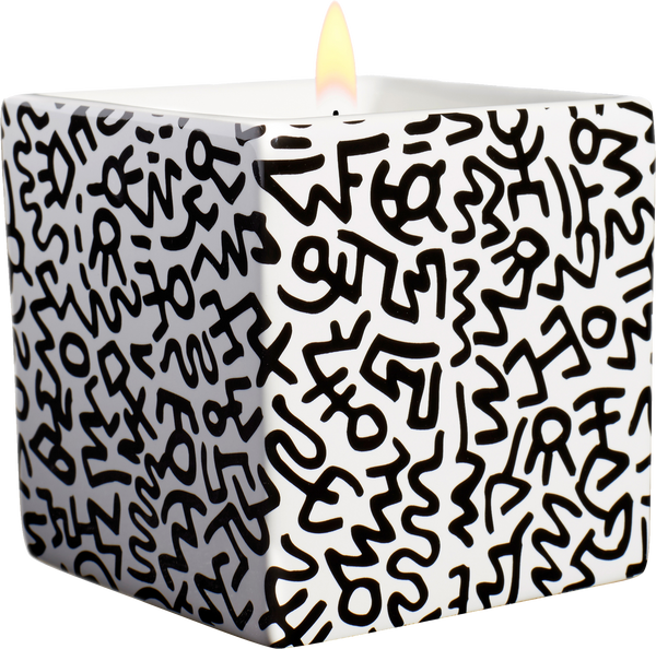 Keith Haring Black Pattern Candle
