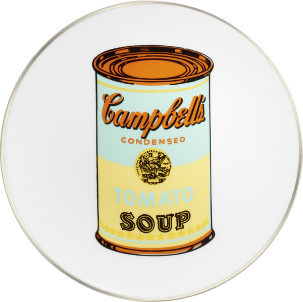 "ANDY WARHOL PORCELAIN PLATE - ""CAMPBELL"" - BLUE/YELLOW"