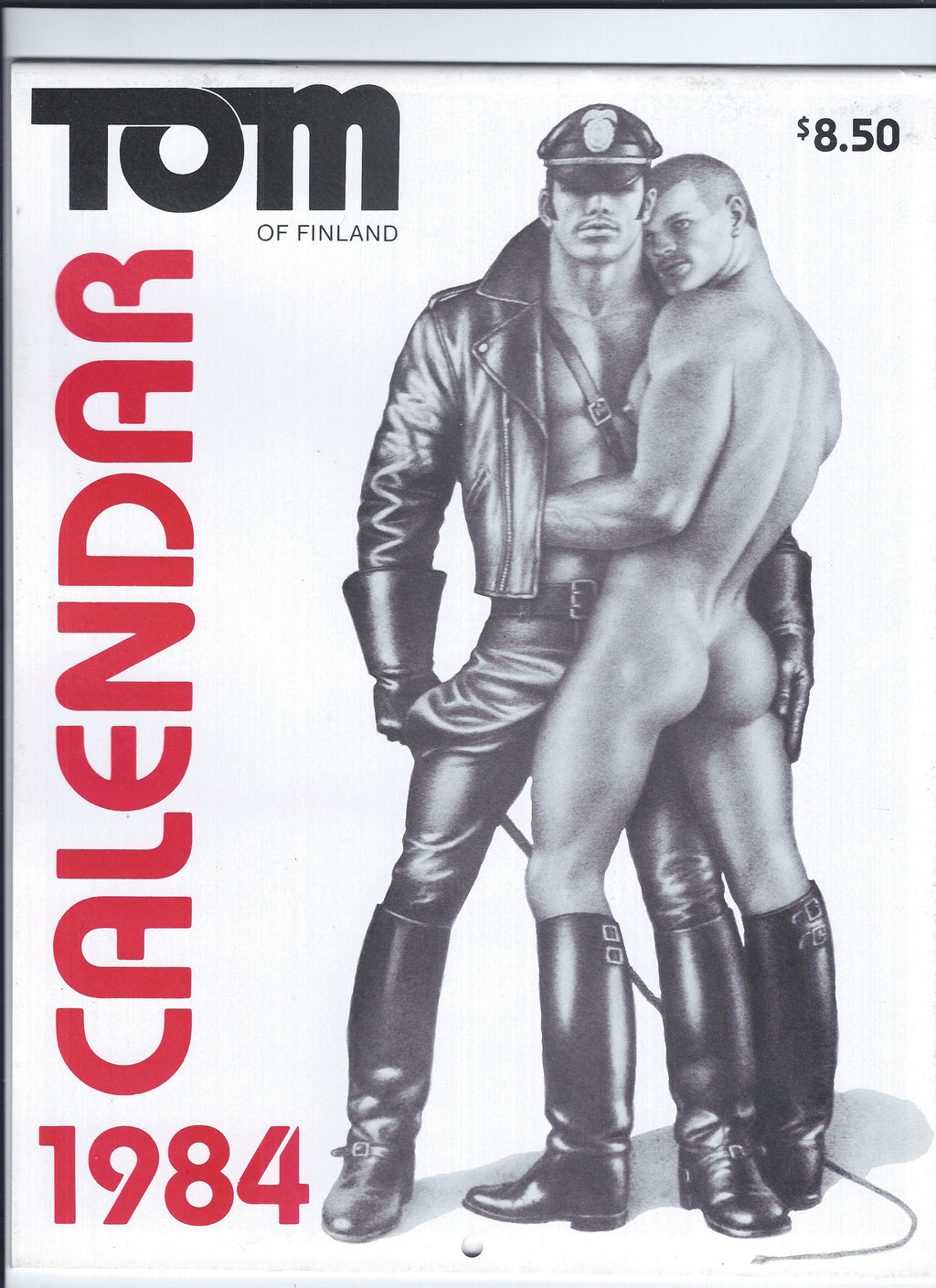 Vintage Tom of Finland 1984 Wall Calendar