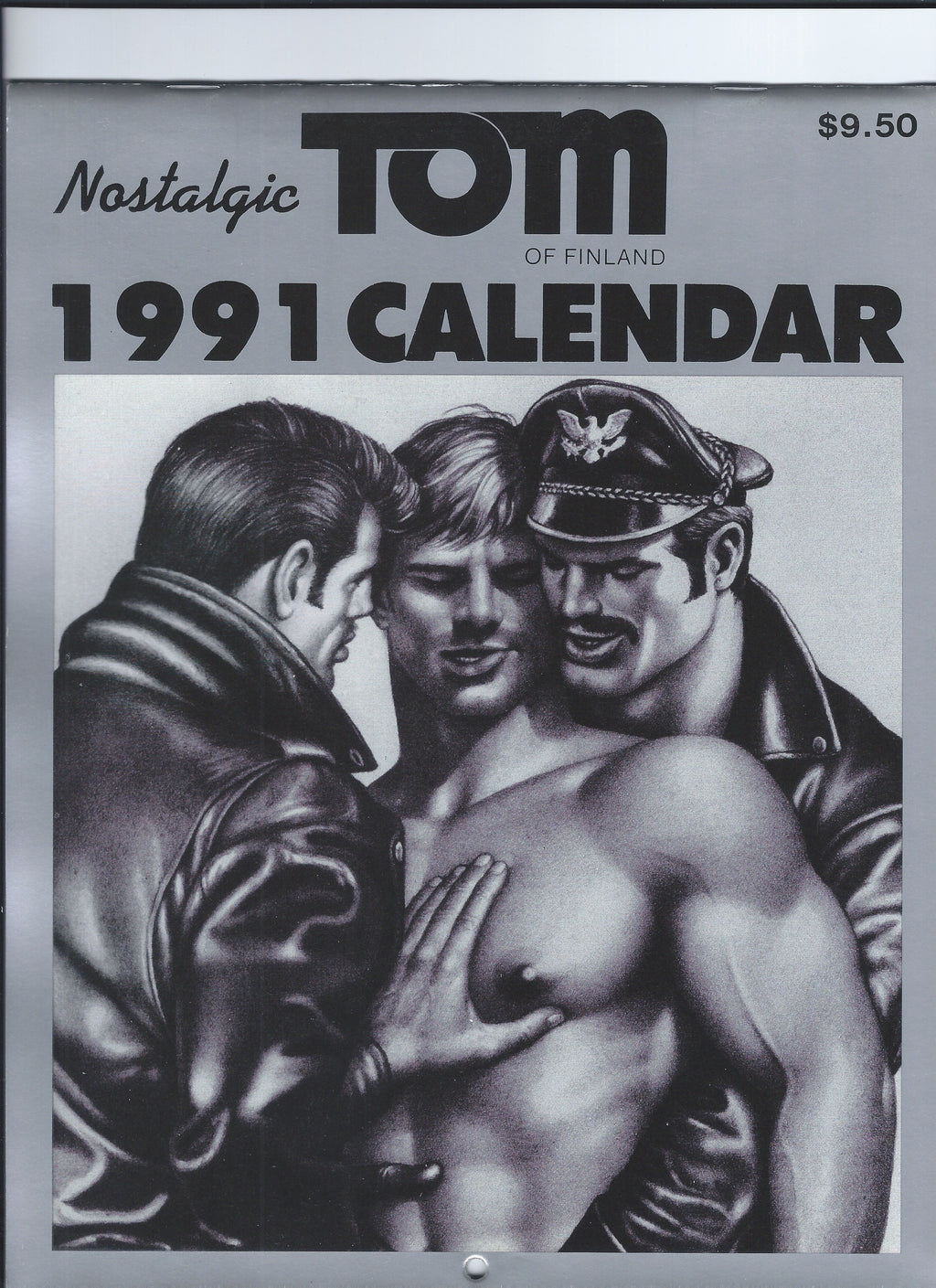Vintage Tom of Finland 1991 Wall Calendar