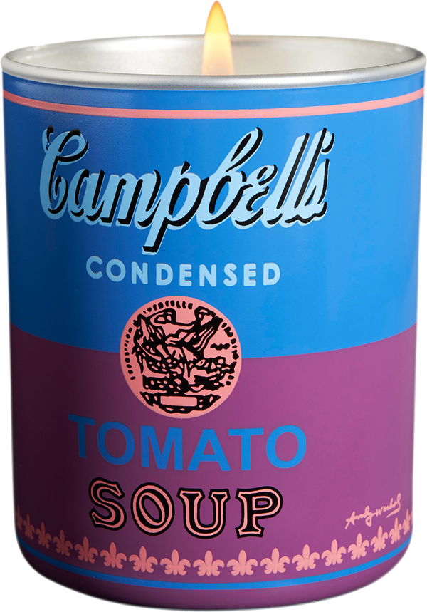 Andy Warhol Blue/Purple Campbell Candle