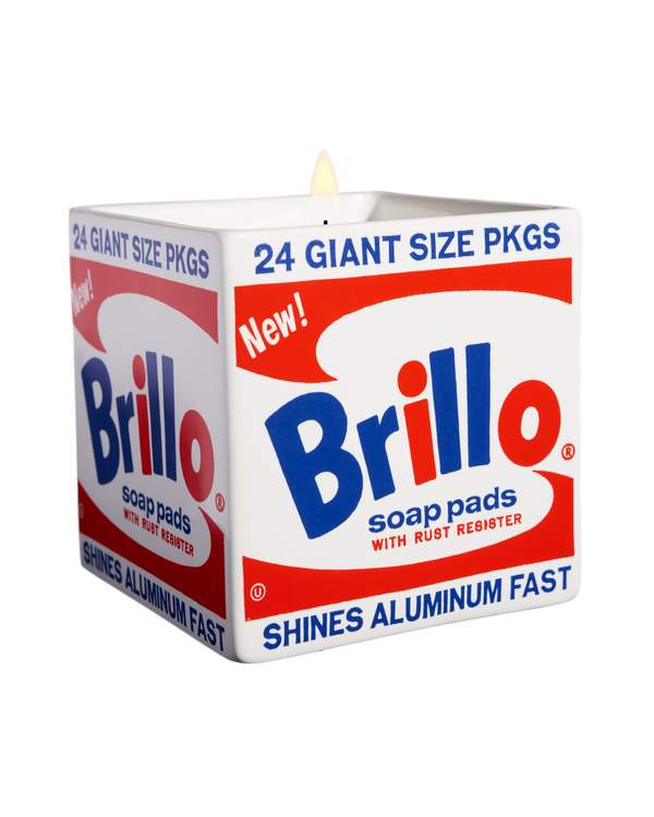 "ANDY WARHOL ""BRILLO BOX"" SQUARE PERFUMED CANDLE"