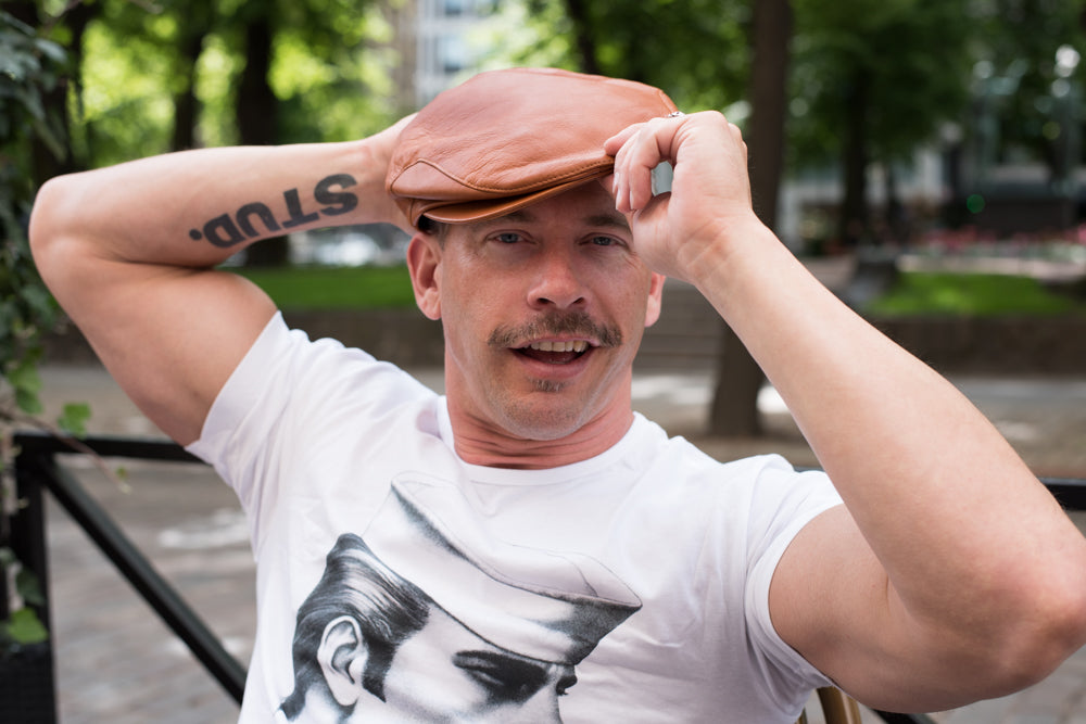 Tom of Finland x Costo HUPLA Brown Leather Cap