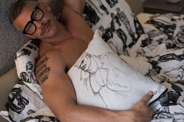 Tom of Finland Tapestry Pillow Cover