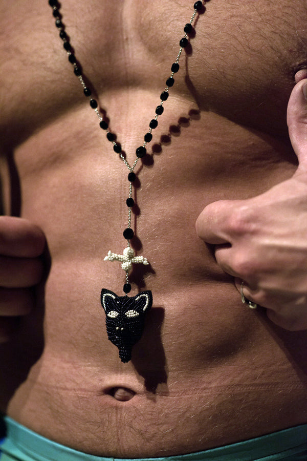 Bone Mask Necklace by Walter Van Beirendonck