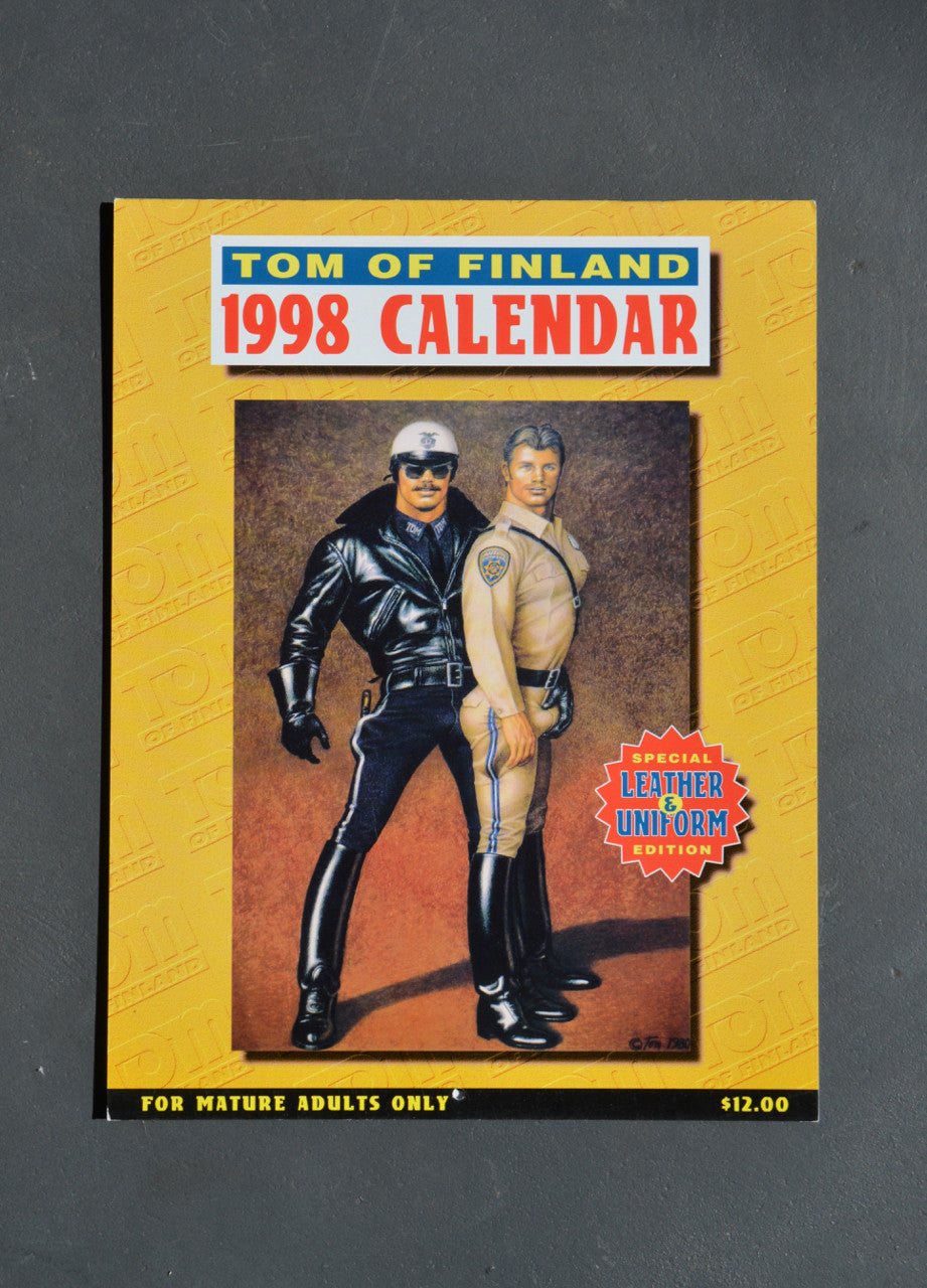 Vintage Tom of Finland 1998 Wall Calendar