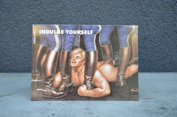 "Vintage Tom of Finland ""Indudge Yourself"" Greeting Card"