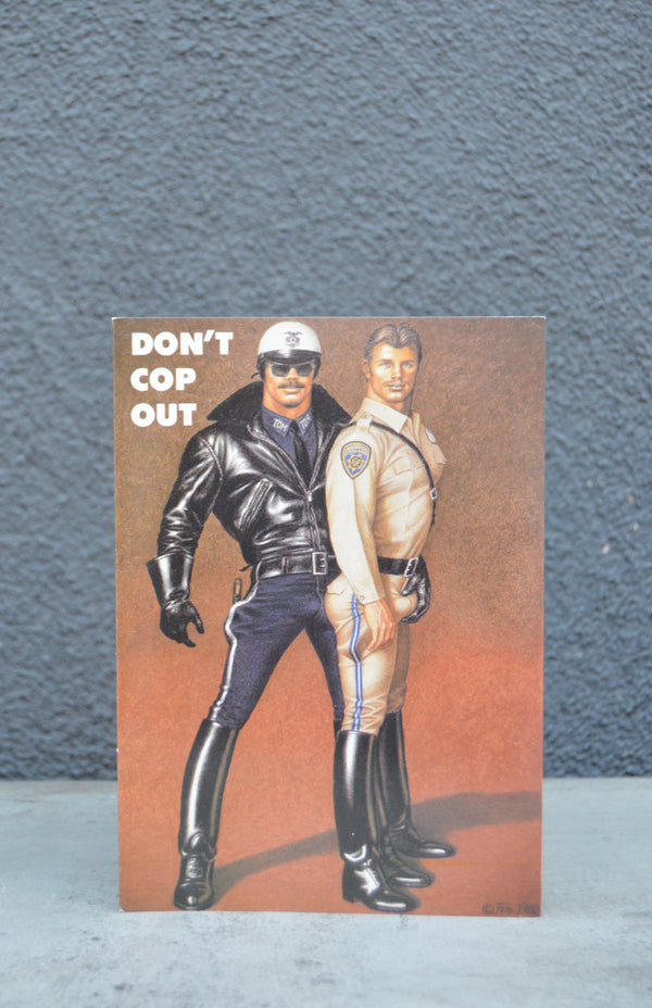 "Vintage Tom of Finland ""Don't Cop Out"" Greeting Card"