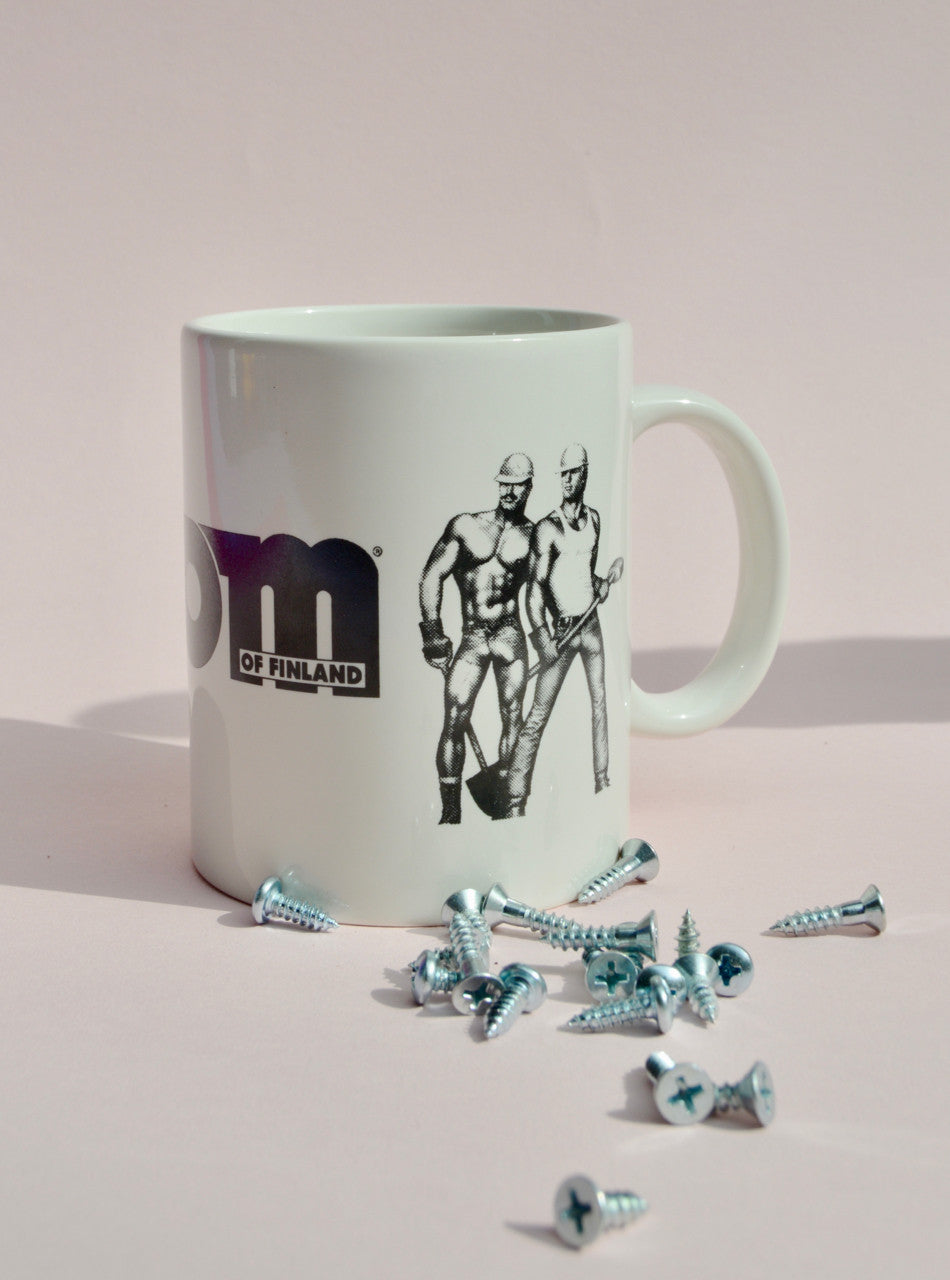 "Tom of Finland ""Lifeguard / Construction Worker"" Ceramic Coffee Mugs"