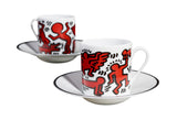 Keith Haring Porcelain Espresso Set - Red on White