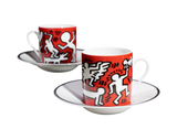 Keith Haring Porcelain Espresso Set - White on Red