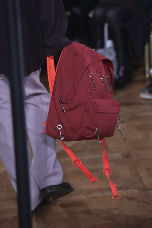Raf Simons x Eastpak Padded Loop Backpack Burgundy/Orange A/W 19-20