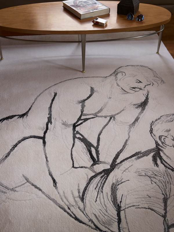 Henzel Studio Heritage: Tom of Finland, Untitled, 1977, Handtufted Rug
