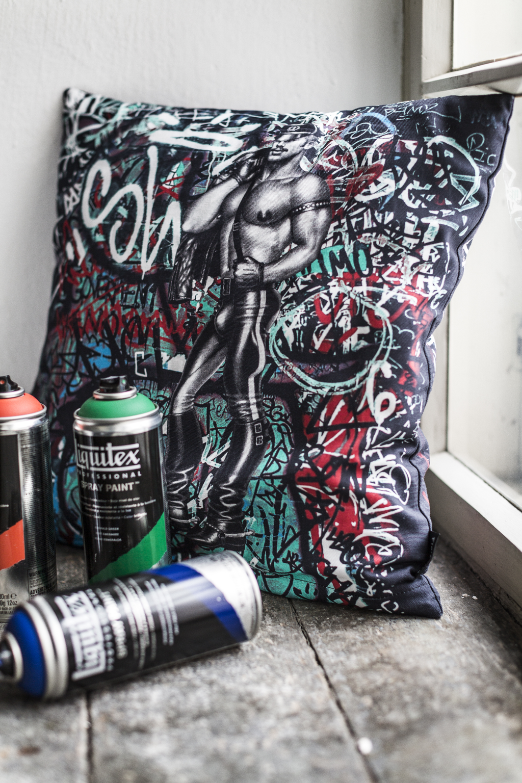 Tom of Finland Back Alley Decorative Cushion Cover by Finlayson