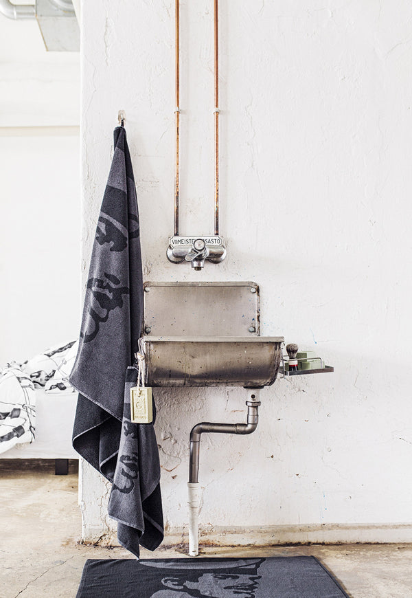 Tom of Finland x Finlayson Seaman Black Bath Towel