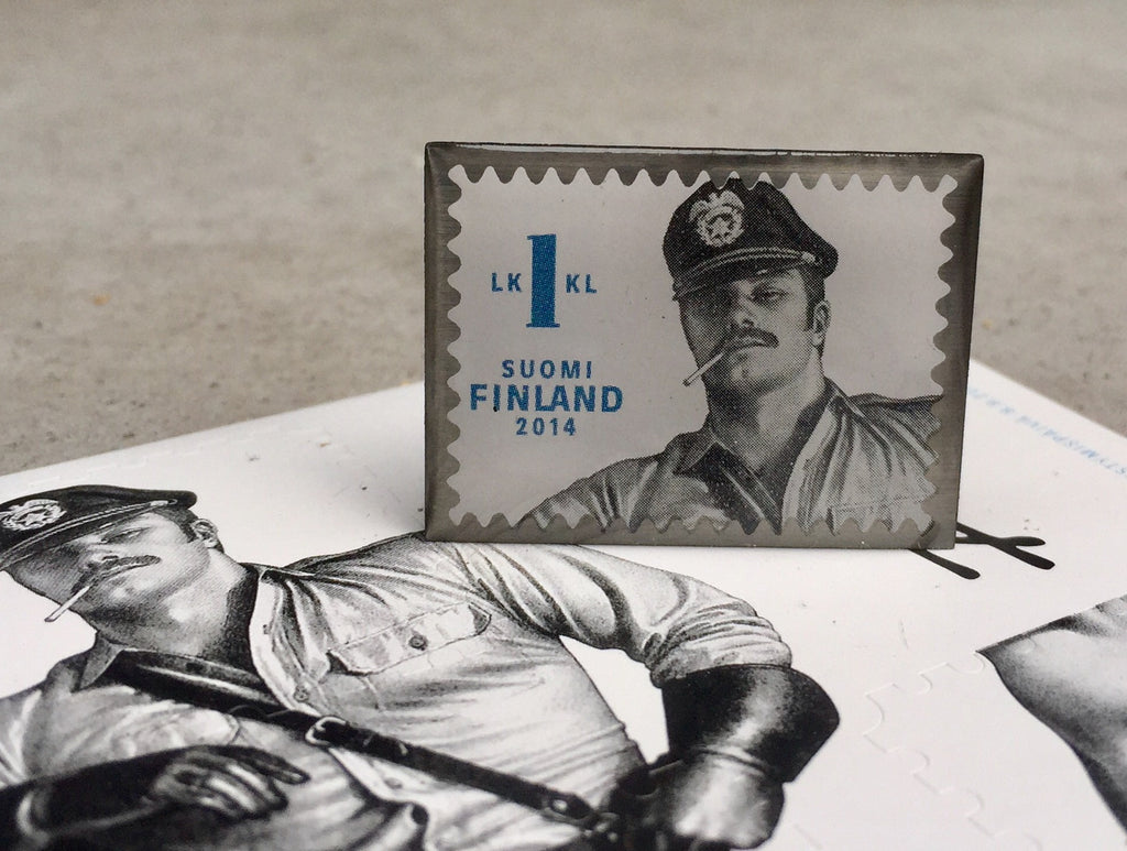 Tom of Finland Special Edition Stamp Enamel Pin