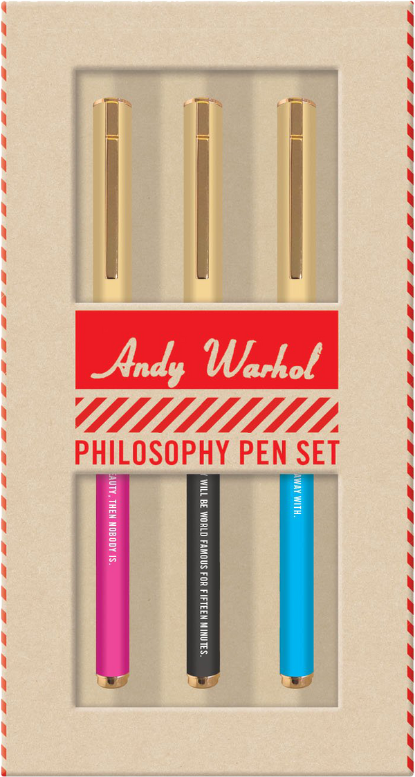 Andy Warhol Philosophy Pen Set