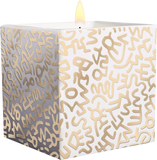 Keith Haring Square Gold Pattern Candle