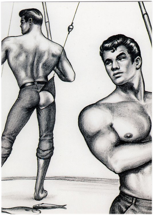 Gone Fishing - Tom of Finland Postcard