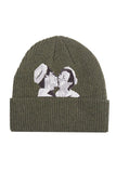 Green Kissing Beanie by LINDER