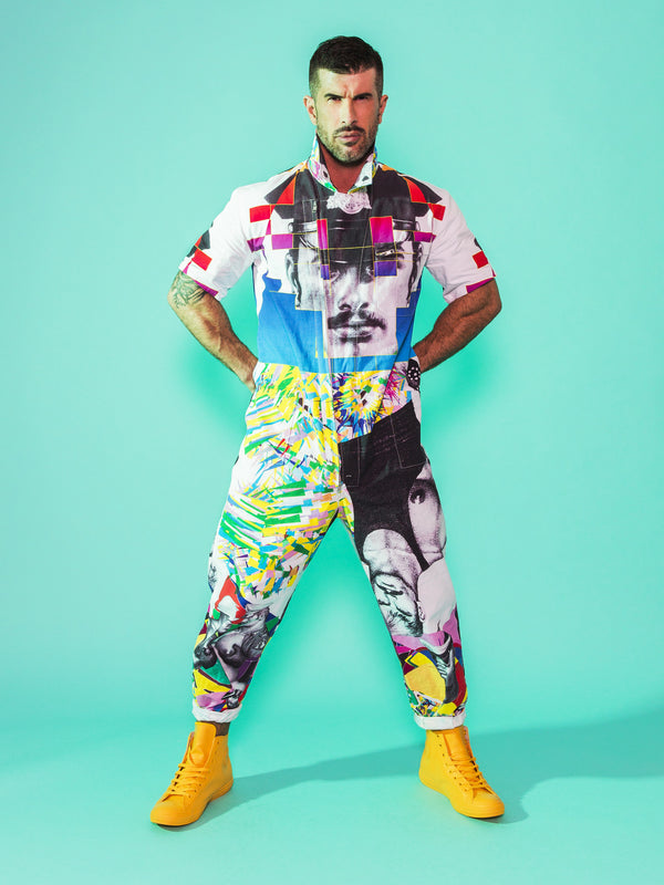 Print All Over Me avaf x Tom of Finland Jumpsuit modeled by Adam Killian