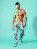 Print All Over Me avaf x Tom of Finland Leggings modeled by Adam Killian