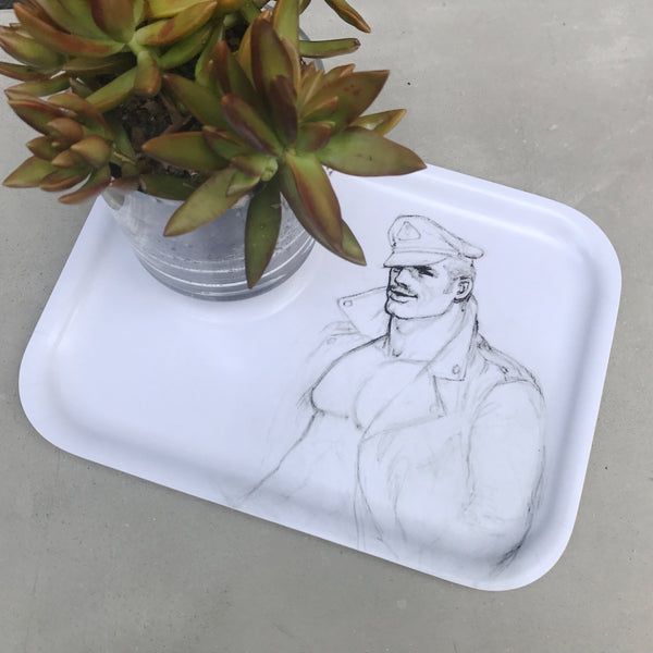 Tom of Finland Leather Man Wooden Tray