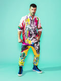 Print All Over Me avaf x Tom of Finland Work Shirt with Cotton Pants modeled by Adam Killian