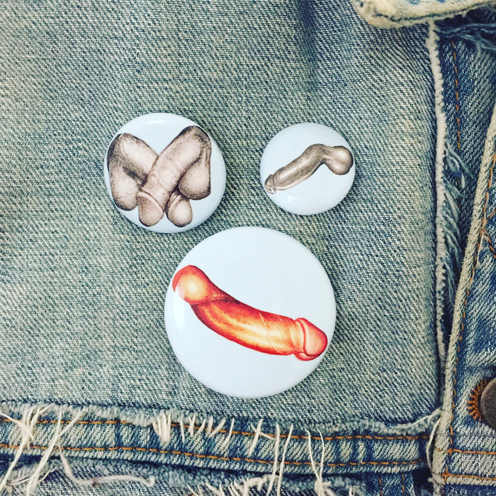 TOM OF FINLAND DICKS BUTTONS