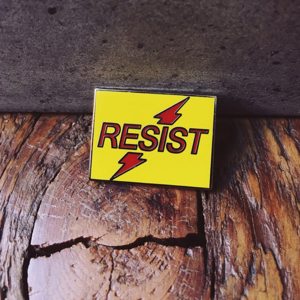 Resist Pin By Starrfucker Magazine x 3rd Class Clothing