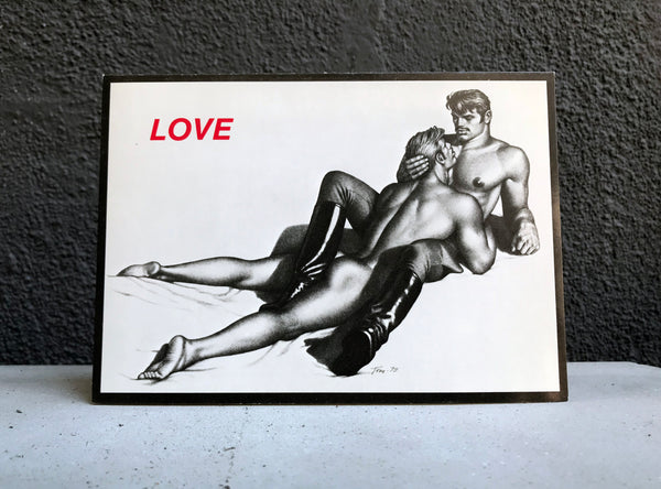 Vintage Tom of Finland Love Greeting Card