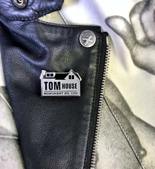 GAYPIN' ENAMEL PIN: TOM OF FINLAND TOM HOUSE